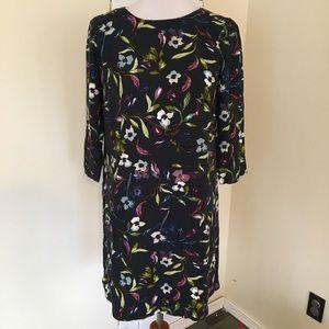 NWT J. Jill Teal Floral Dress w/ Pockets New XSP
